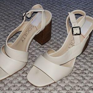 Sole Society Wedges Block Heels Sandals - 8.5M